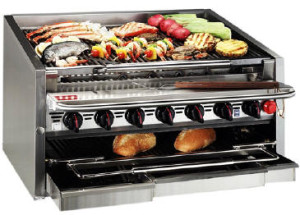 MagiKitch'n Series 600 Convertible Charbroiler from CR Peterson + Associates